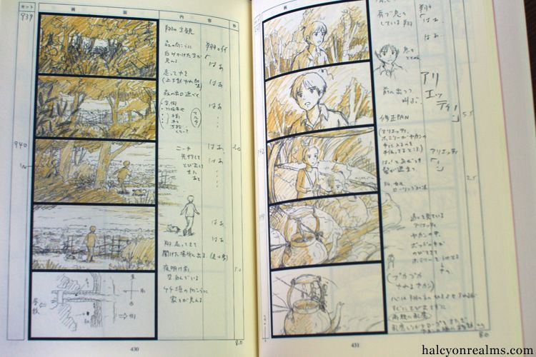 The Art Of Kari-gurashi (Arrietty) Storyboard Book Review Anime - anime storyboard