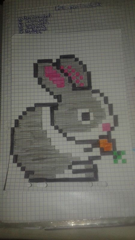 Lapin Carotte Dessin Pixel Dessin Petit Carreau Et Dessin