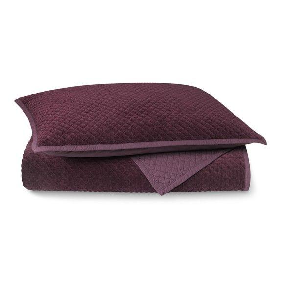 Mini Diamond Velvet Bedding #williamssonoma