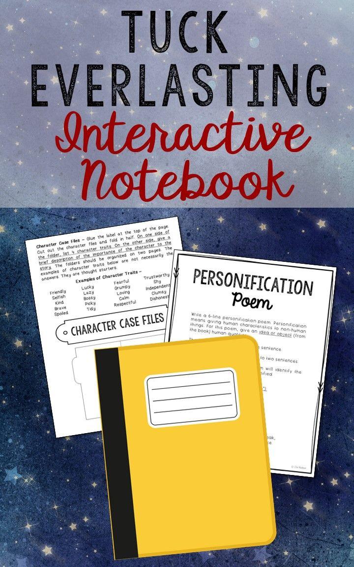 Tuck Everlasting Interactive Notebook Novel Unit Study Activities ...