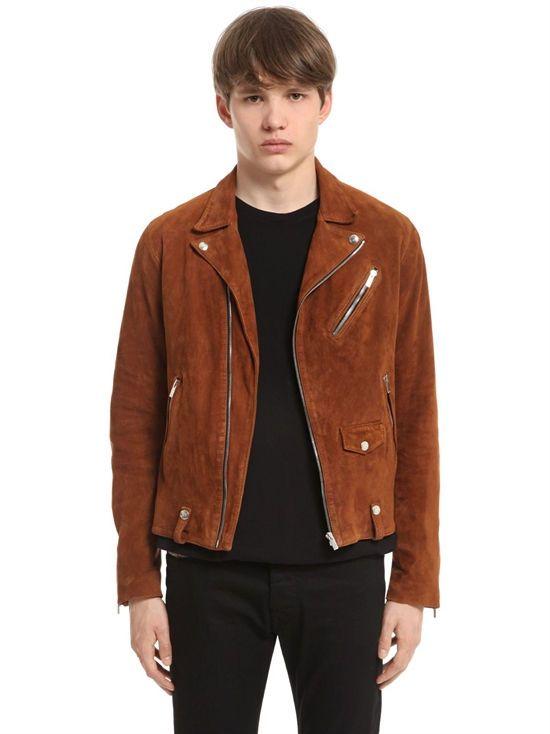 22370279a7 the kooples - men - leather jackets - suede leather biker jacket ...
