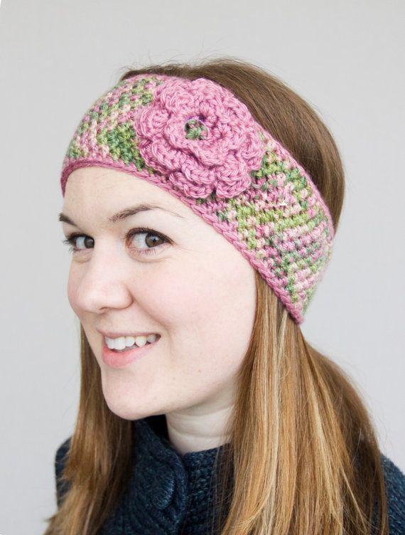 Crochet Ear warmer Headband with accent border & by MMandHDKroshay ...