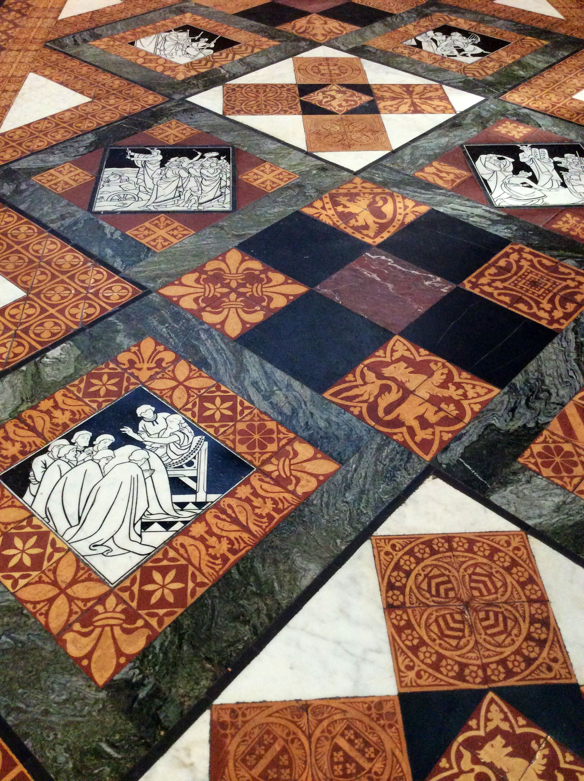 Meval Tiles Gloucester Cathedral Glyn Overton