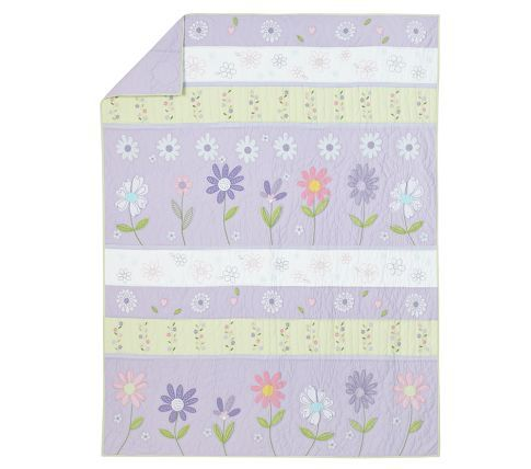 Daisy Garden Quilted Bedding Quilt, Daisy Garden Quilted Bedding Pottery Barn