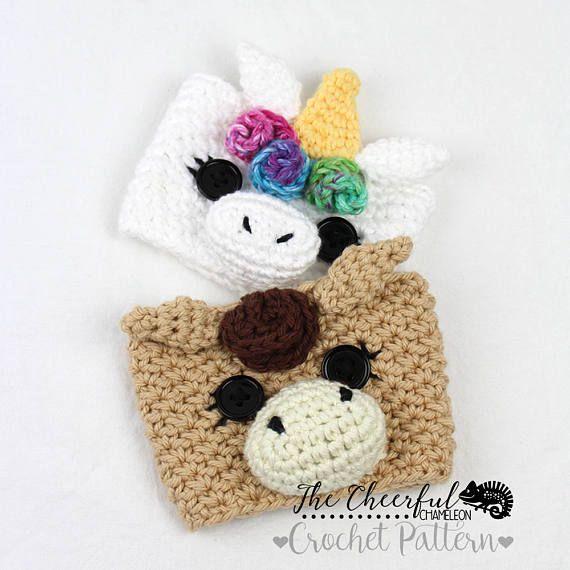 Crochet Pattern Coffee Cozy Pattern Unicorn Horse | teachers gift ...