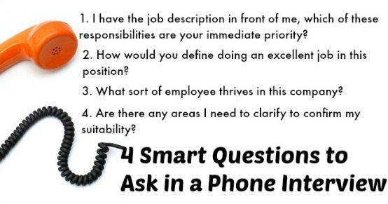 what to ask in a phone interview