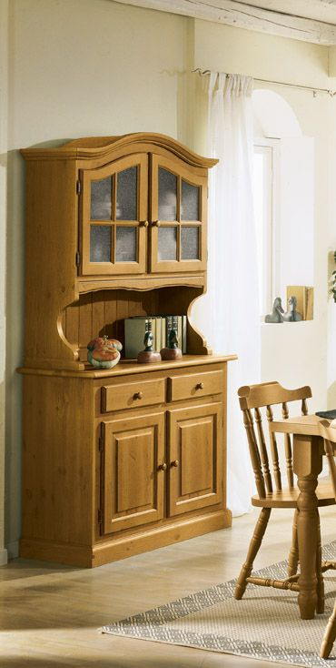 Credenza in legno di pino mobili rustici in legno for Produttori di mobili