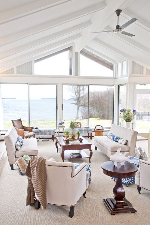 traditional family room by portland maine interior designers
