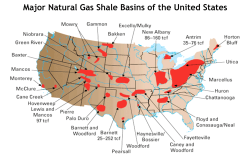 Economic Sustainability Is In America S Grasp Shale Map Oil Shale