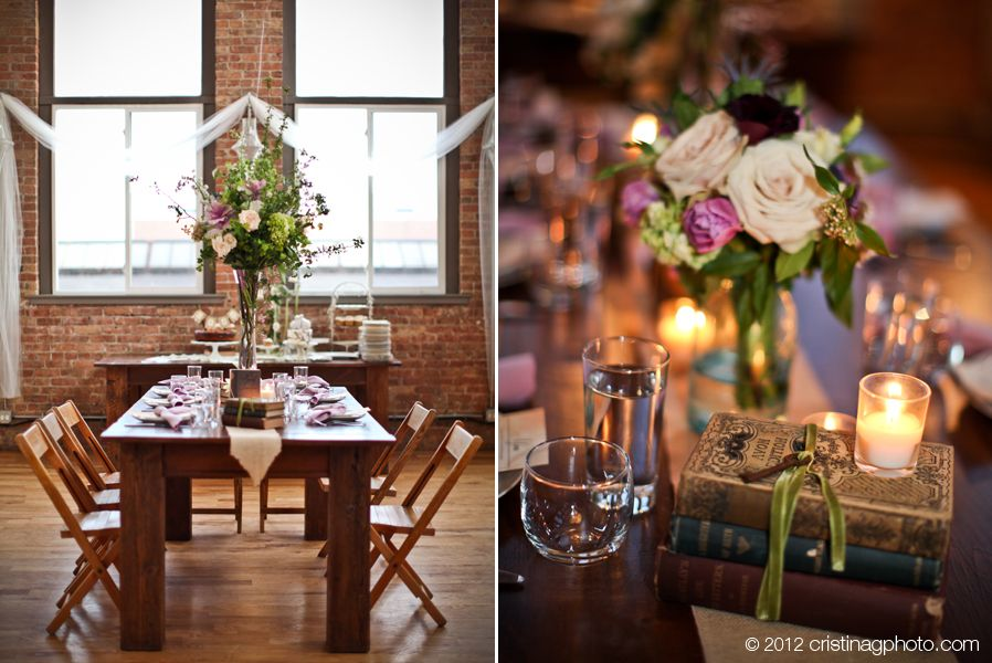 Spring Kitchen Chicago wedding. Love leaving the wood tables ...