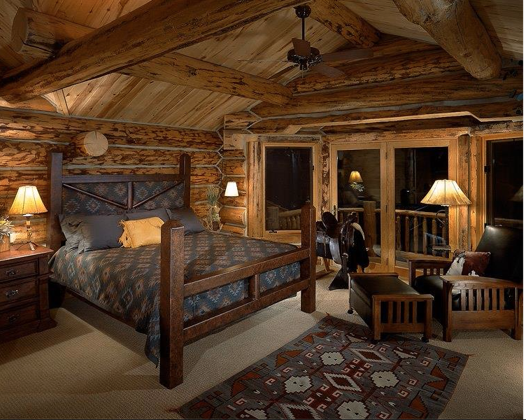 Gorgeous Cabin Bedroom