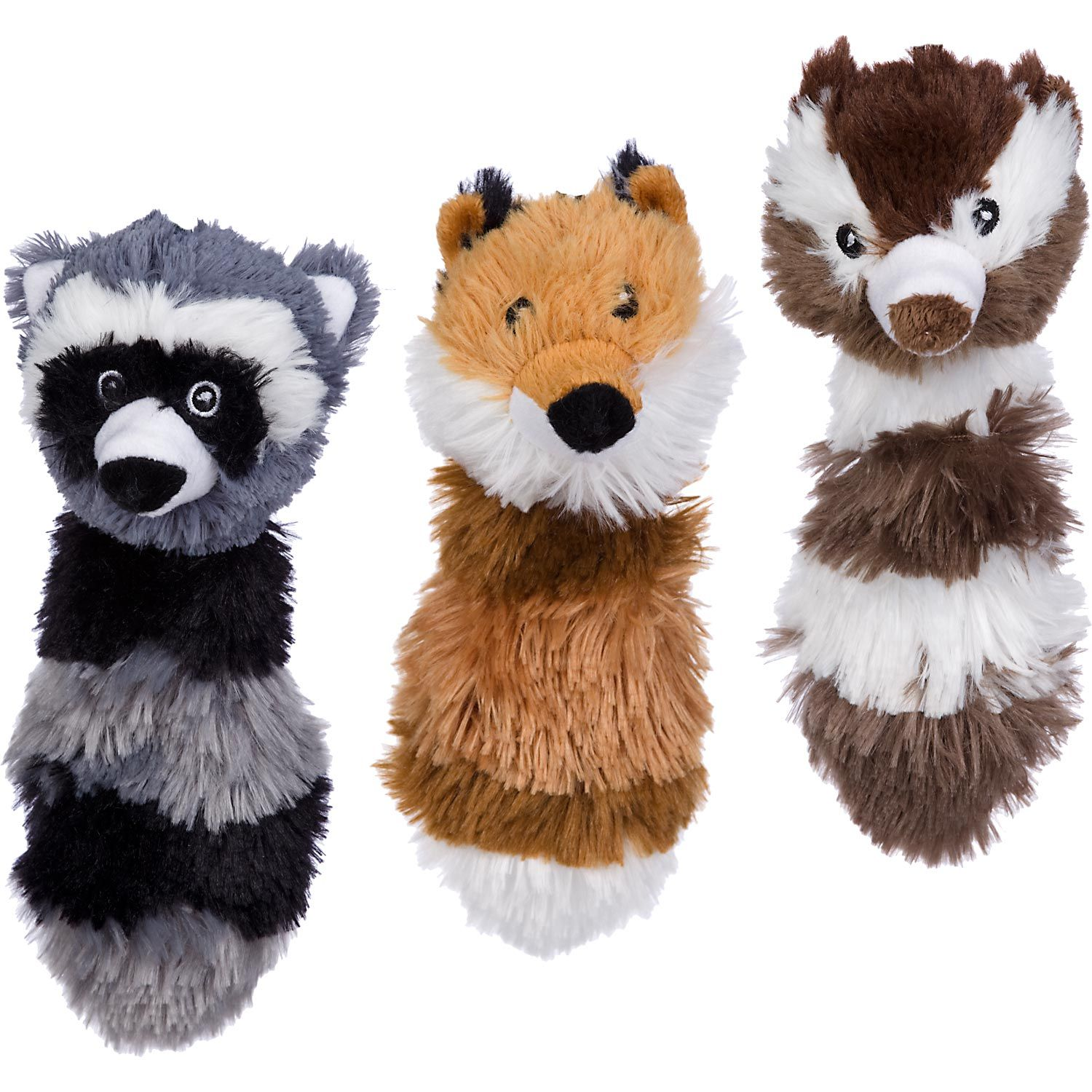 Petco Squeaky Head Raccoon Chipmunk Or Fox Dog Toy A Must Have