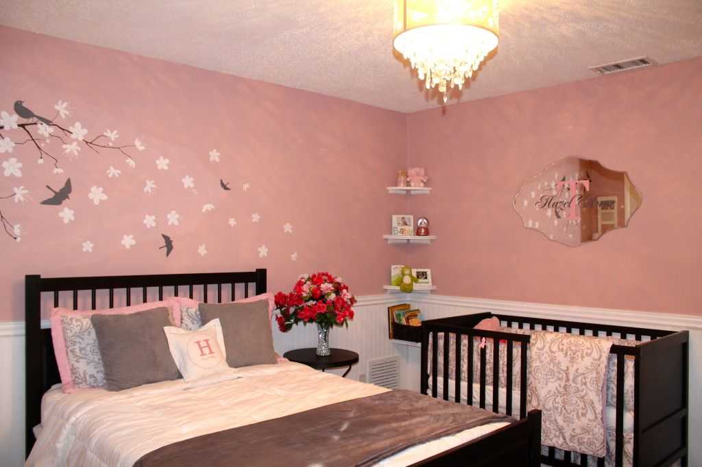 Best Hazel S Pink And Gray Nursery Parents Room Pink Gray 400 x 300