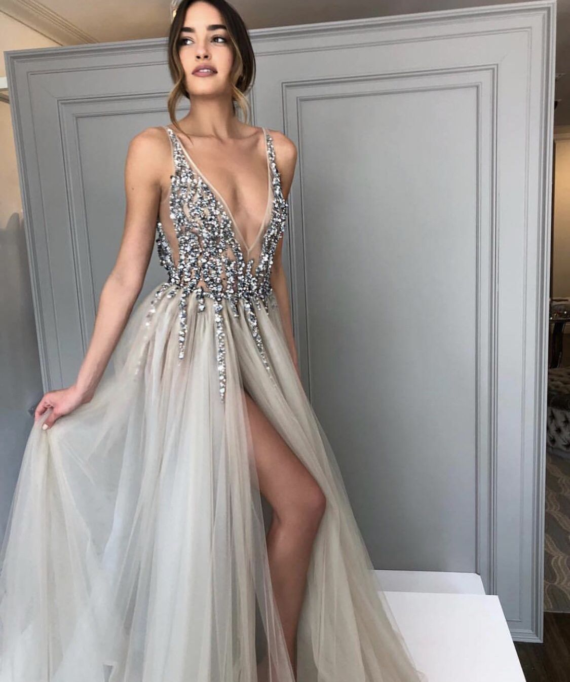 b1b591ea3 On Sale Absorbing Backless Prom Dresses, Sexy Prom Dresses, V Neck Prom  Dresses