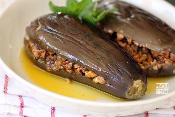 Makdous Aubergines Farcies Aux Noix Et Au Piment Piment Oiseau Recettes Syriennes Cuisine Libanaise Recettes Egyptiennes