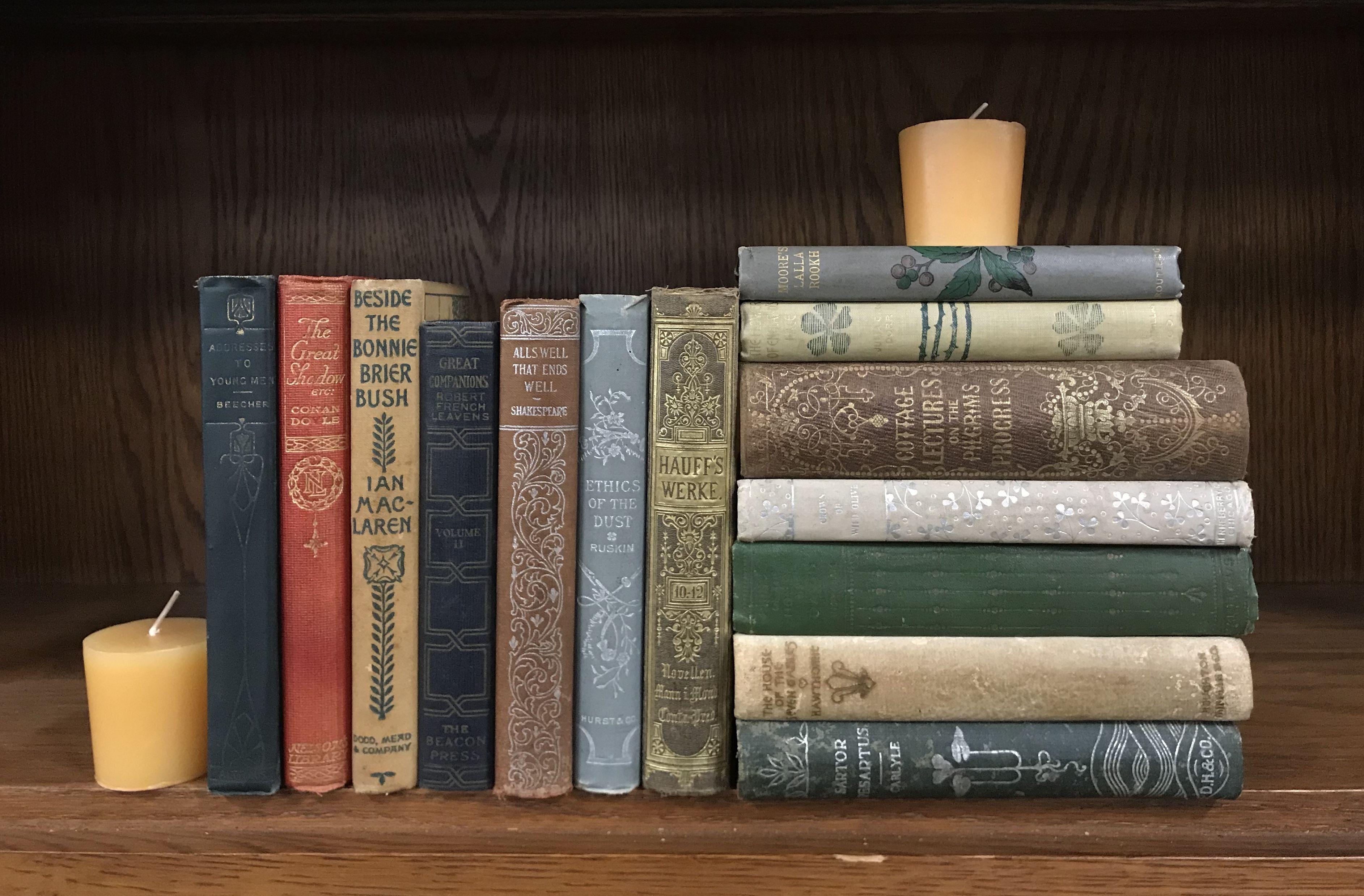 Petite Vintage Antique Books Vintage Books Book Decor