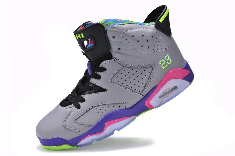 Air Jordan Leather Bel Air Cool Grey/Court Purple/Game Royal/Club Pink men  and girls