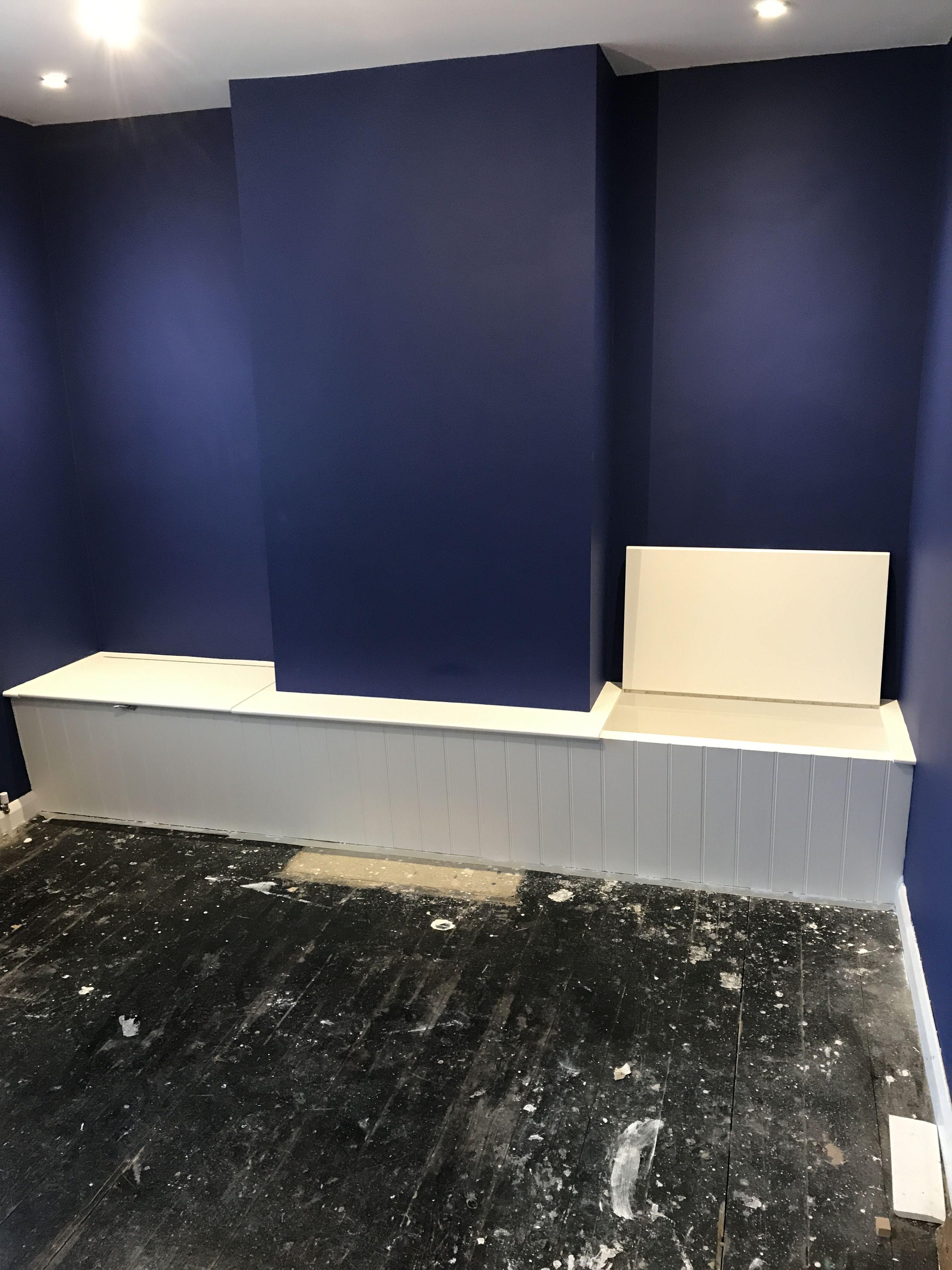 Alcove Bench Seat With Storage In Twickenham Storage Bench Seating Banquet Seating Lighted Bathroom Mirror