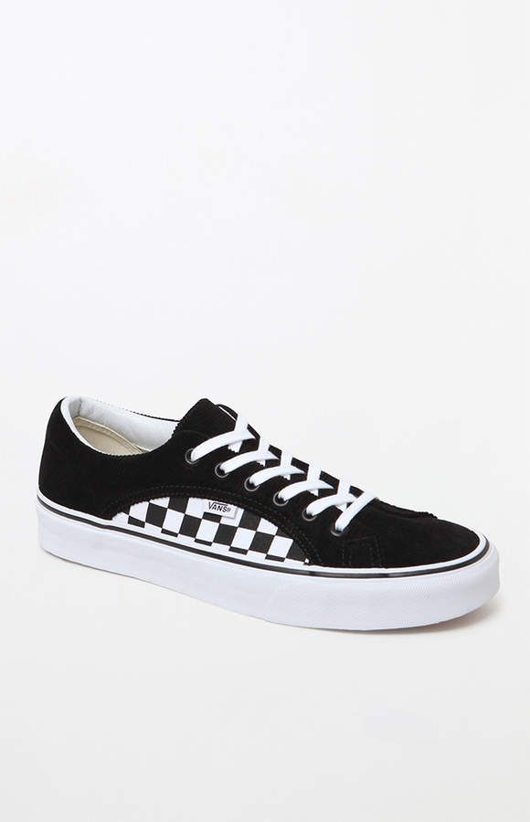 9dcb542f31f Vans Lampin Black   Checkerboard Shoes