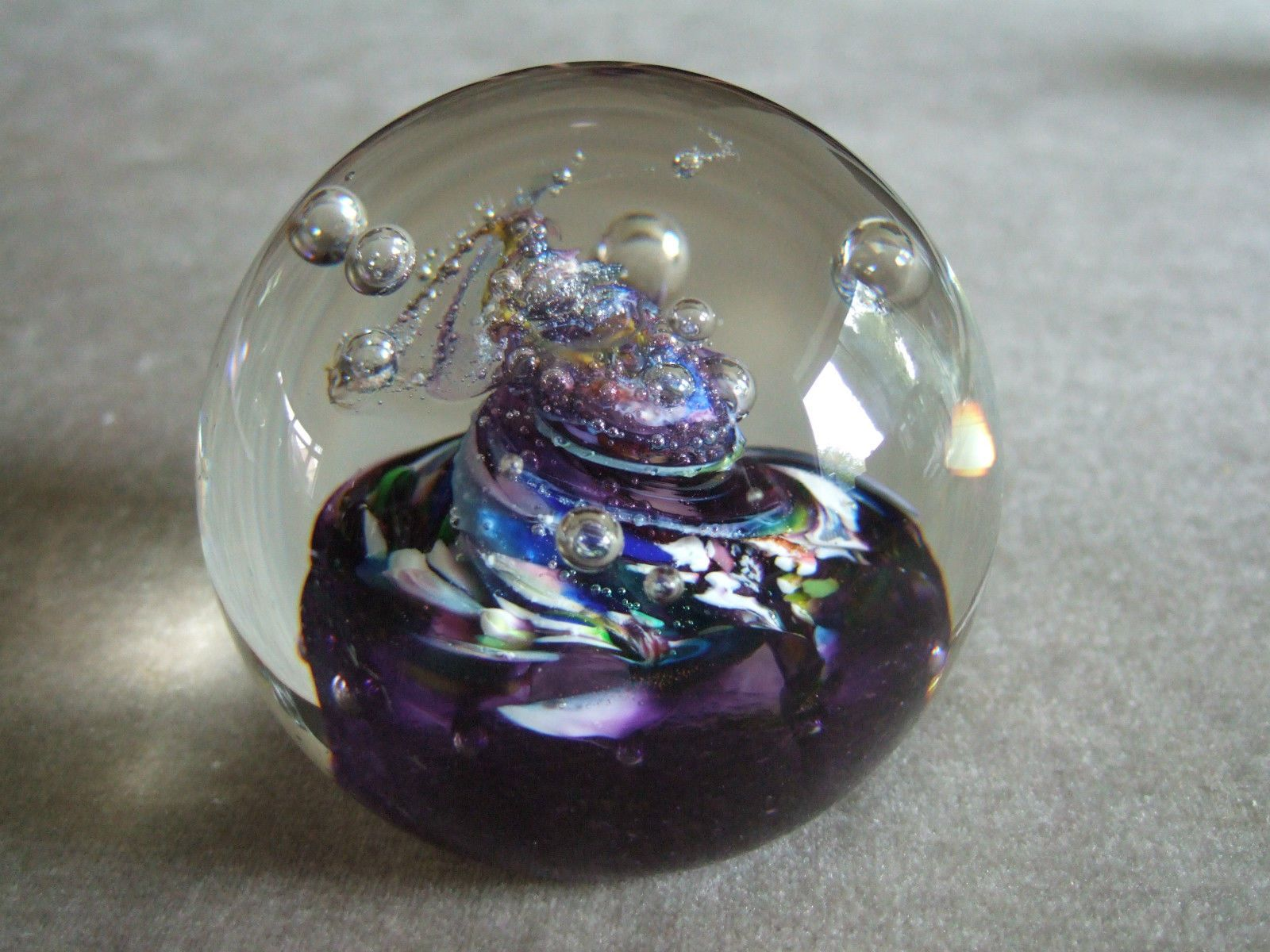 Caithness Glass Violet Paperweight
