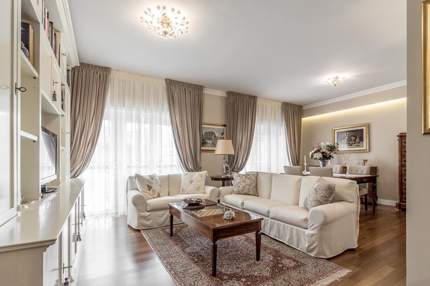 Tende Per Salotto Classico soggiorno open space soggiorno classico di facile