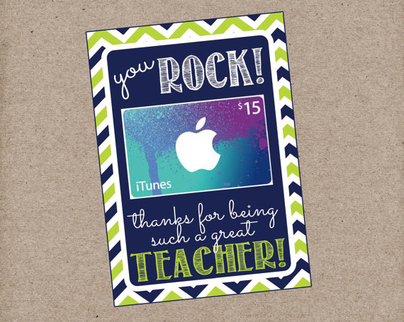 You Rock Teacher Appreciation Thank You Card by LilacsAndCharcoal