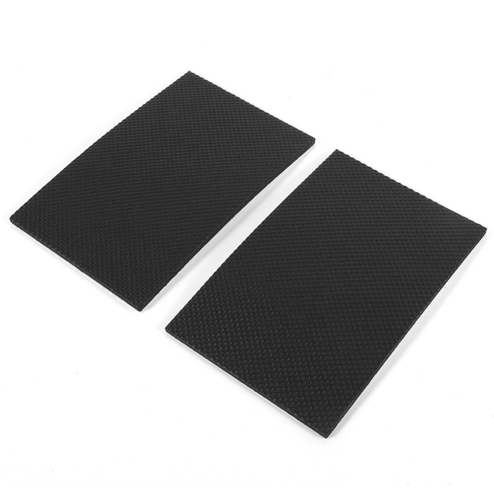 2pcs 9.8cmx15cm Black Non Slip Self Adhesive Floor Protectors Ottomans  Furniture Sofa Desk Chair