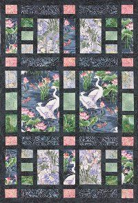 Oriental showcasing larger prints | quilts using panels ... : quilt patterns with panels - Adamdwight.com