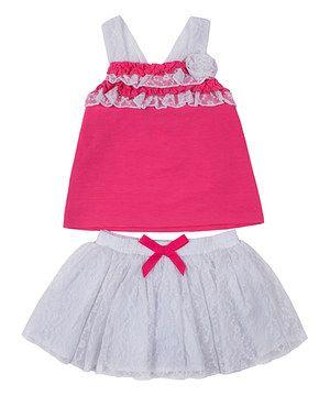 Fuchsia Ruffle Tank & Skirt - Infant, Toddler & Girls by Little Lass #zulily #zulilyfinds