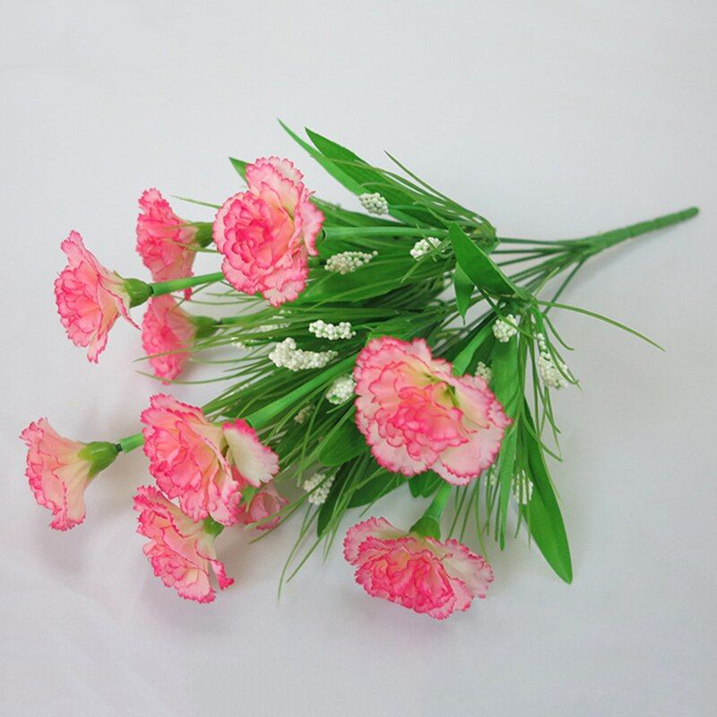 Present 10 Head 1 Bouquet Artificial Flowers Cheap Carnations Silk Decorative Fake Flowers For Fake Flowers Artificial Flowers Wedding Artificial Flowers