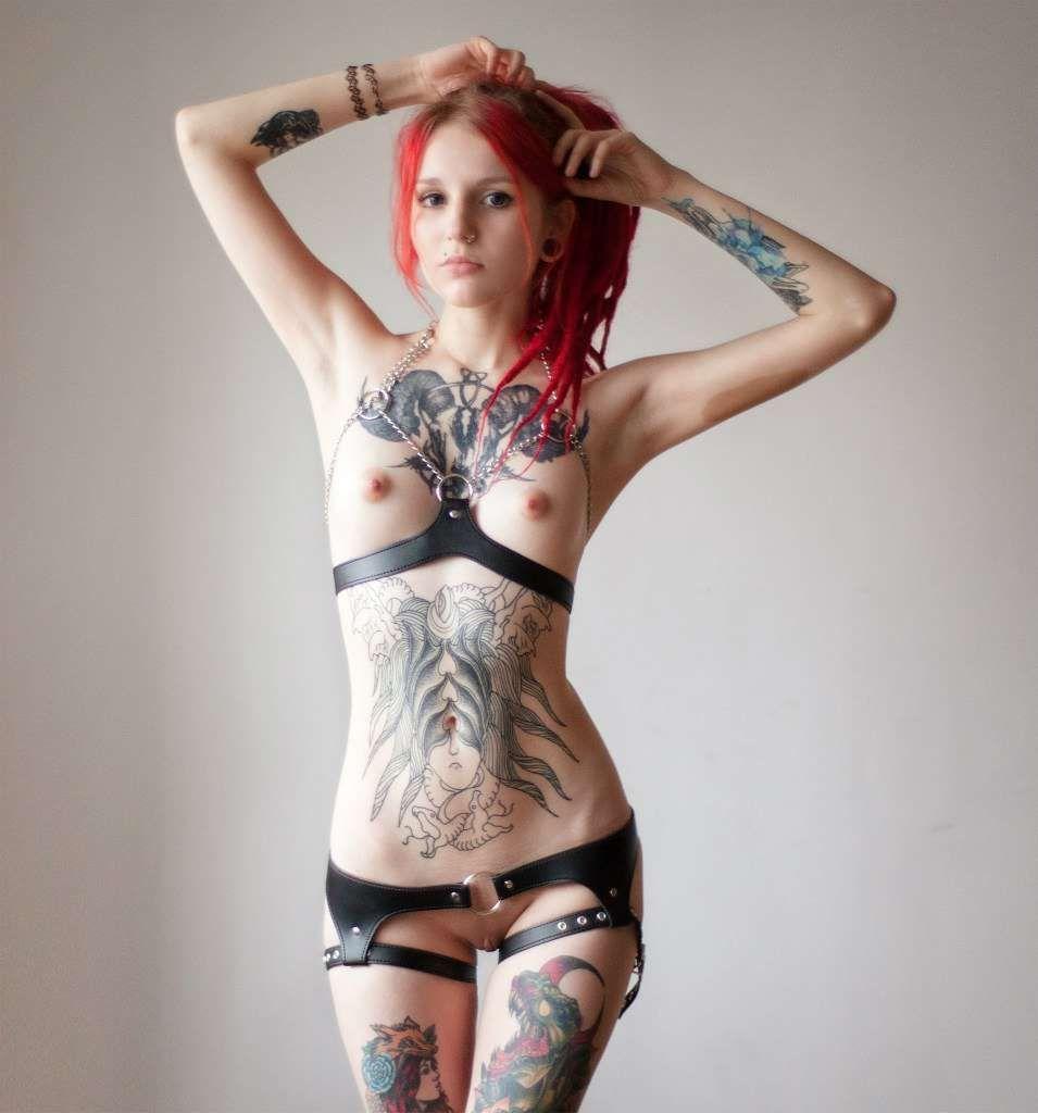 Deutsches Tattoo Babe fickt fantastisch