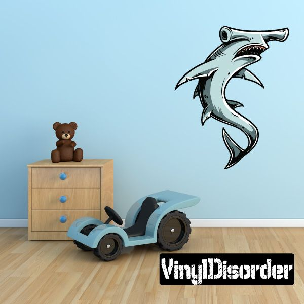 Hammerhead shark wall decal vinyl car sticker 3