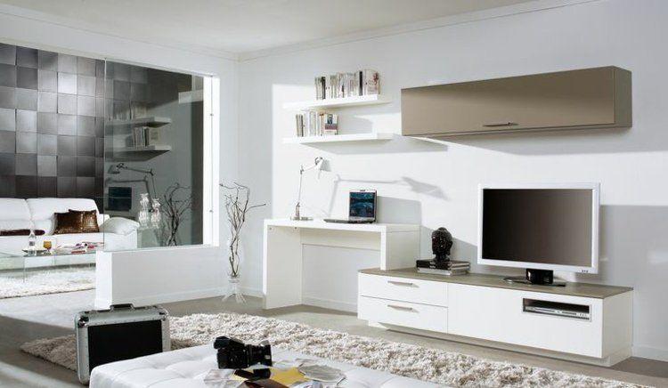 Aménagement de bureau moderne dans un salon design ! Salons - decoration de salon moderne