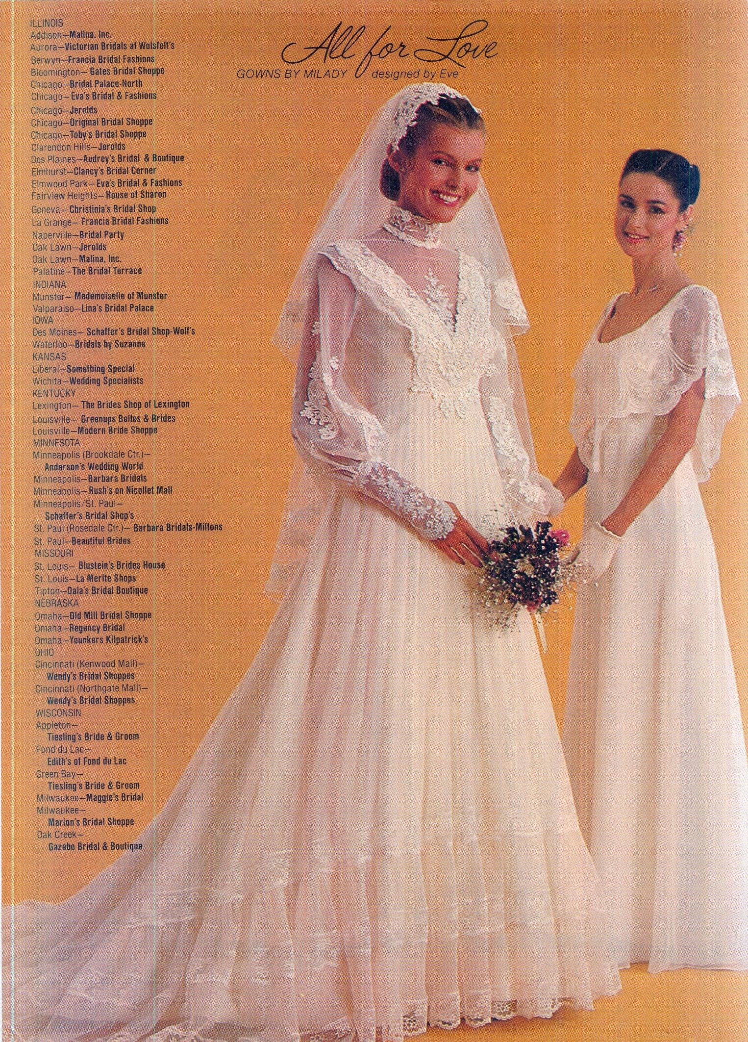 Brides Magazine December 1980 January 1981 1980s Wedding Dress 1970s Designer