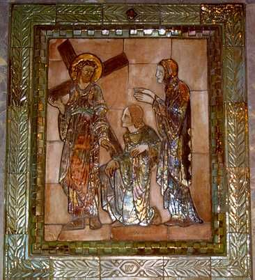 National Shrine of the Immaculate Conception - Station of the Cross, Pewabic Pottery