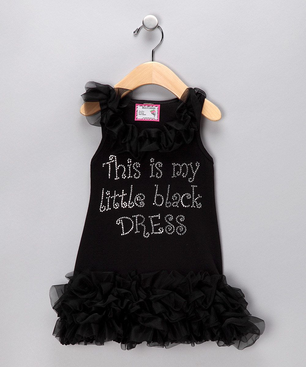 This is my little black dress
