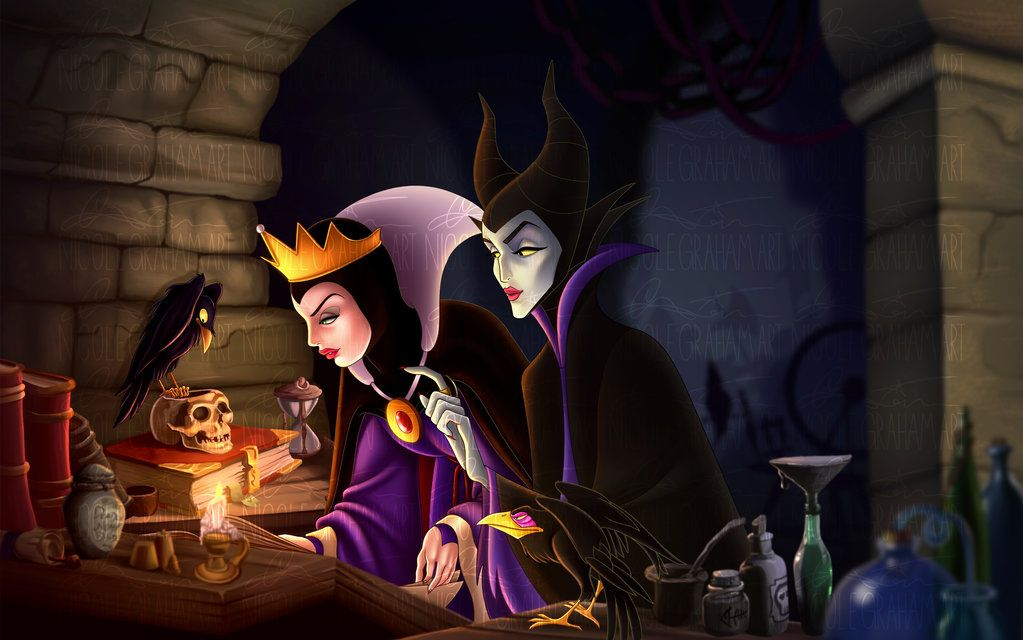 Evil Queen And Maleficent By Jostnic Deviantart Com On Deviantart