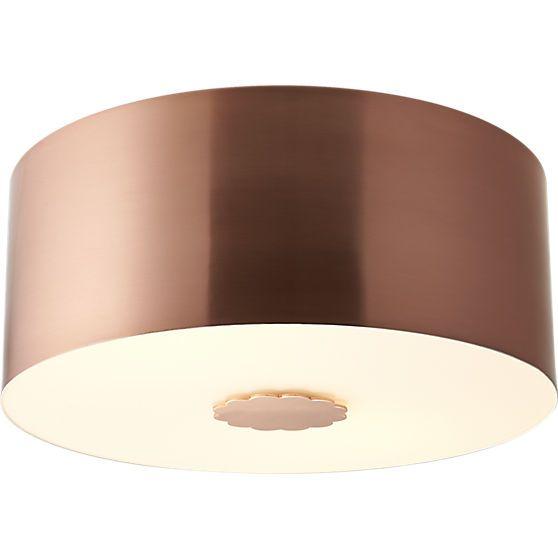 CB2 Blanche Flush Mount Lamp   Bathroom light fixtures, Kitchen reno ...