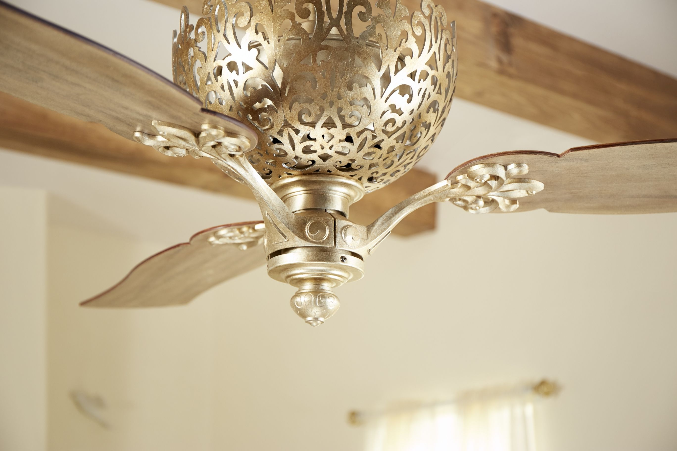 Quorum Le Monde 62 3 Blade Indoor Ceiling Fan In Vintage Gold