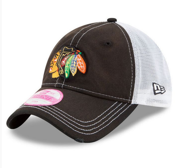 huge selection of f6d66 72c24 ... sweden chicago blackhawks womens spirited adjustable cap by new era  c42ad 904d0