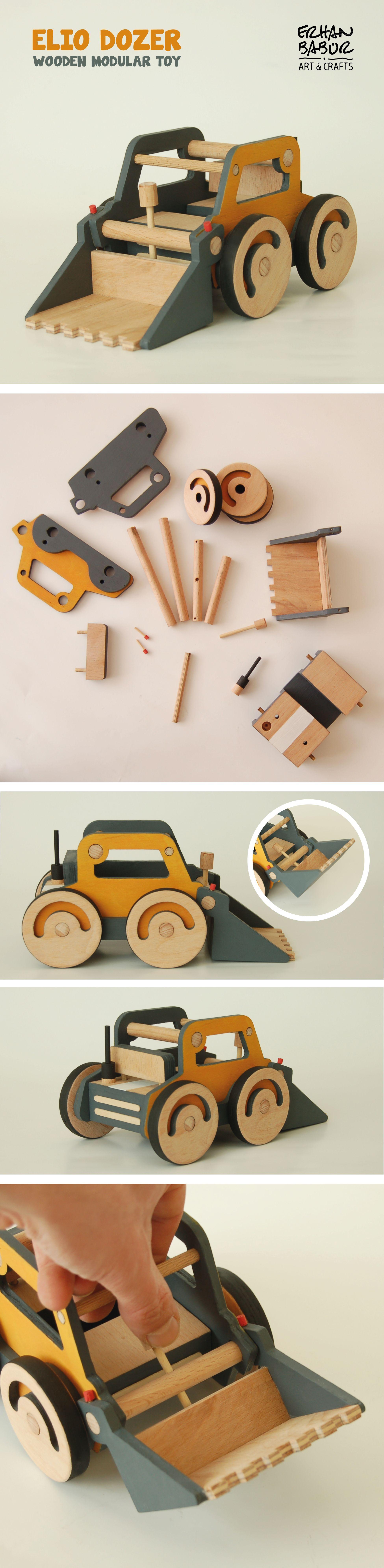De Modular Elio ToyJuguetes Dozer Madera Pinterest Wooden yv8wnOP0mN