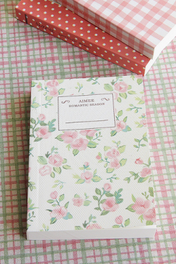 Shabby Chic Style Note Book - Pastel Shabby Chic Rose