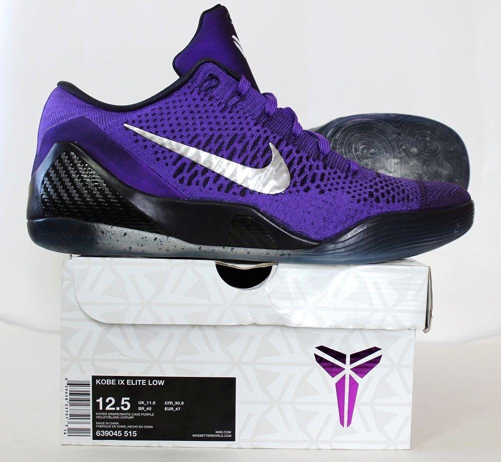 249b63f7ed25 Nike Men s Kobe IX Elite Low Shoe Michael Jackson 639045 515 Hyper Grape Sz  12.5…