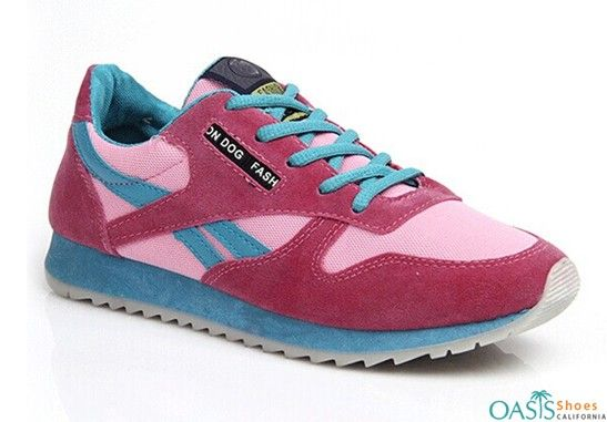 Blue and pink women asics shoes suppliers in UK