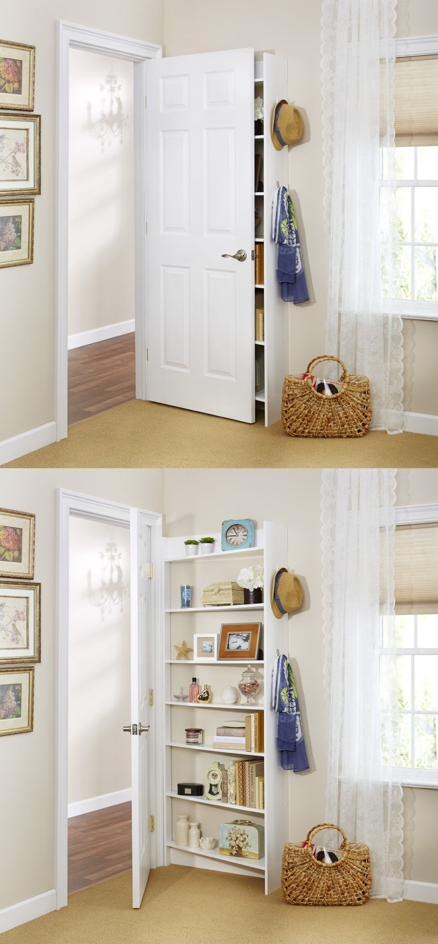 small bedroom storage ideas. Hide Behind The Door Shelving System By Foremost , Because It\u0027s Possible To Fit Extra Storage EVERYWHERE. Small Bedroom Ideas