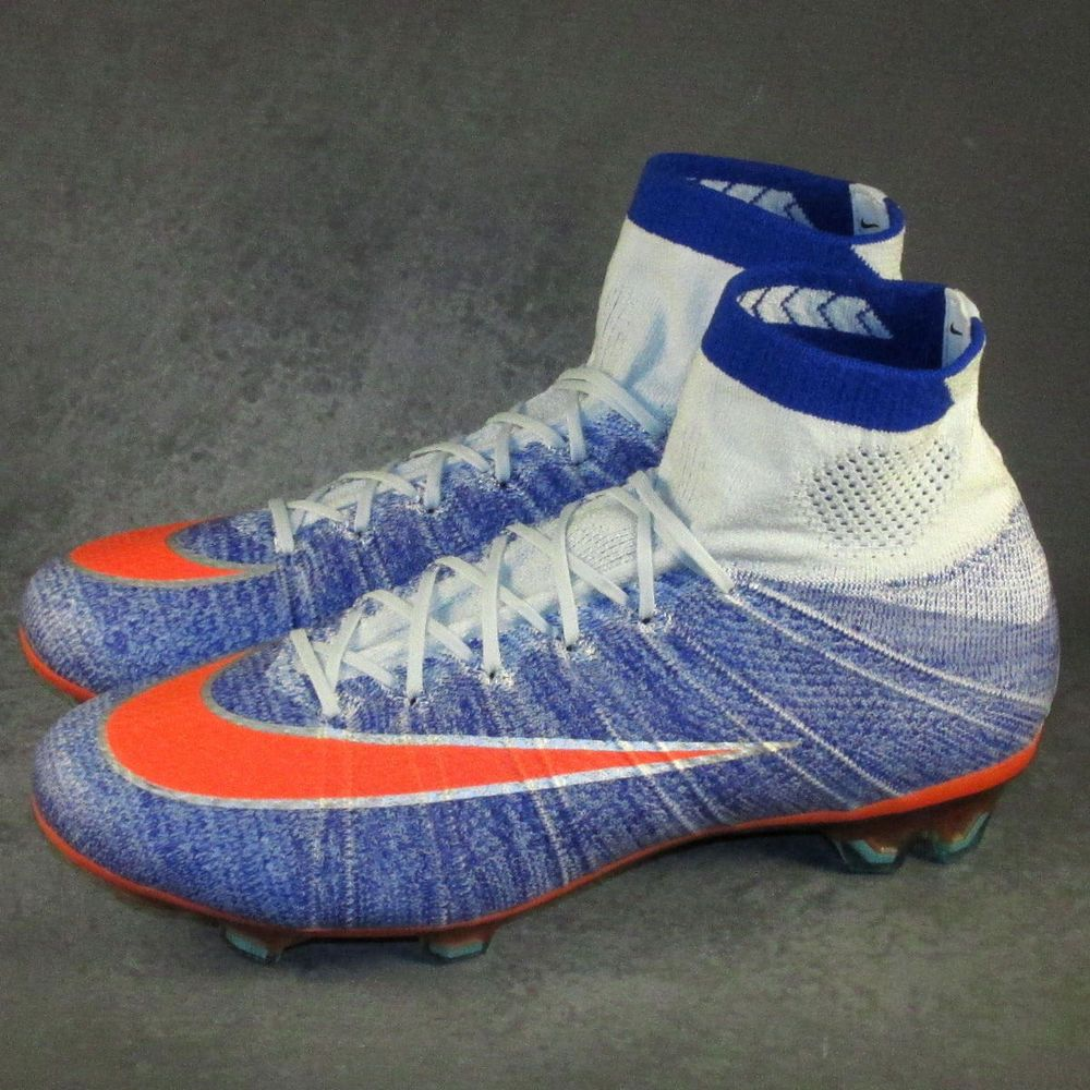 Women S Nike Mercurial Superfly Iv Fg Soccer Cleats Size 9 Blue Mango Soccer Cleats Soccer Shoes Cleats