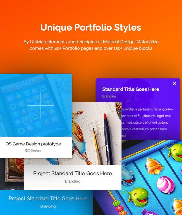 Materialize Material Design Multipurpose Wordpress Theme