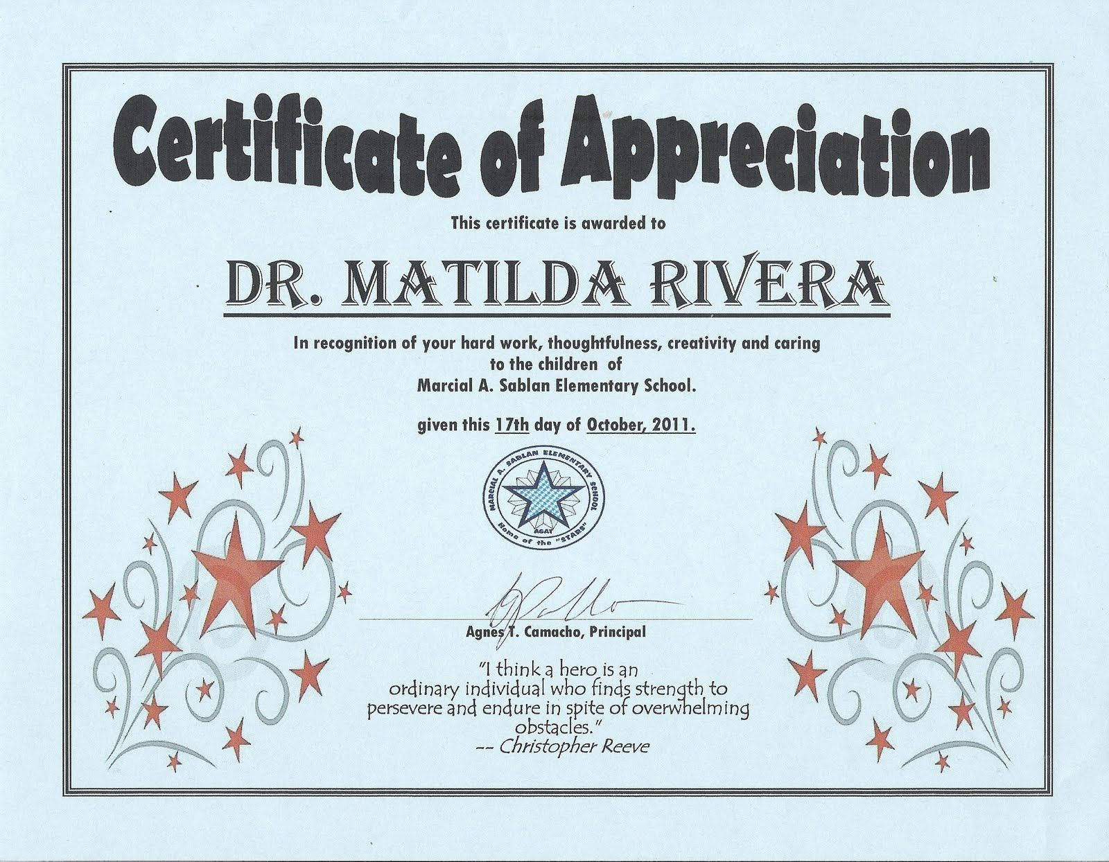Marilyn washington ladyw14kt on pinterest parent award certificates pictured above is the appreciation certificate i received on october yadclub Images