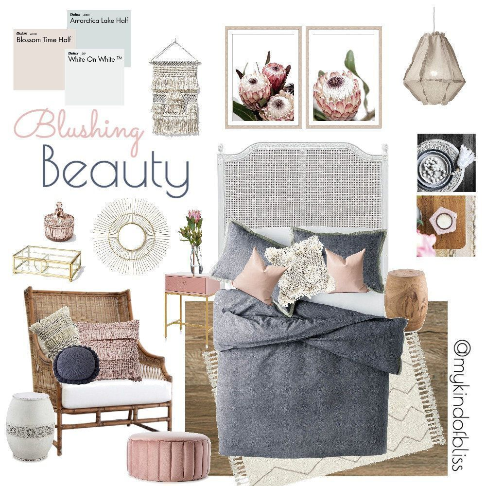 blushing beauty my kind of bliss boho style hamptons nordic pom