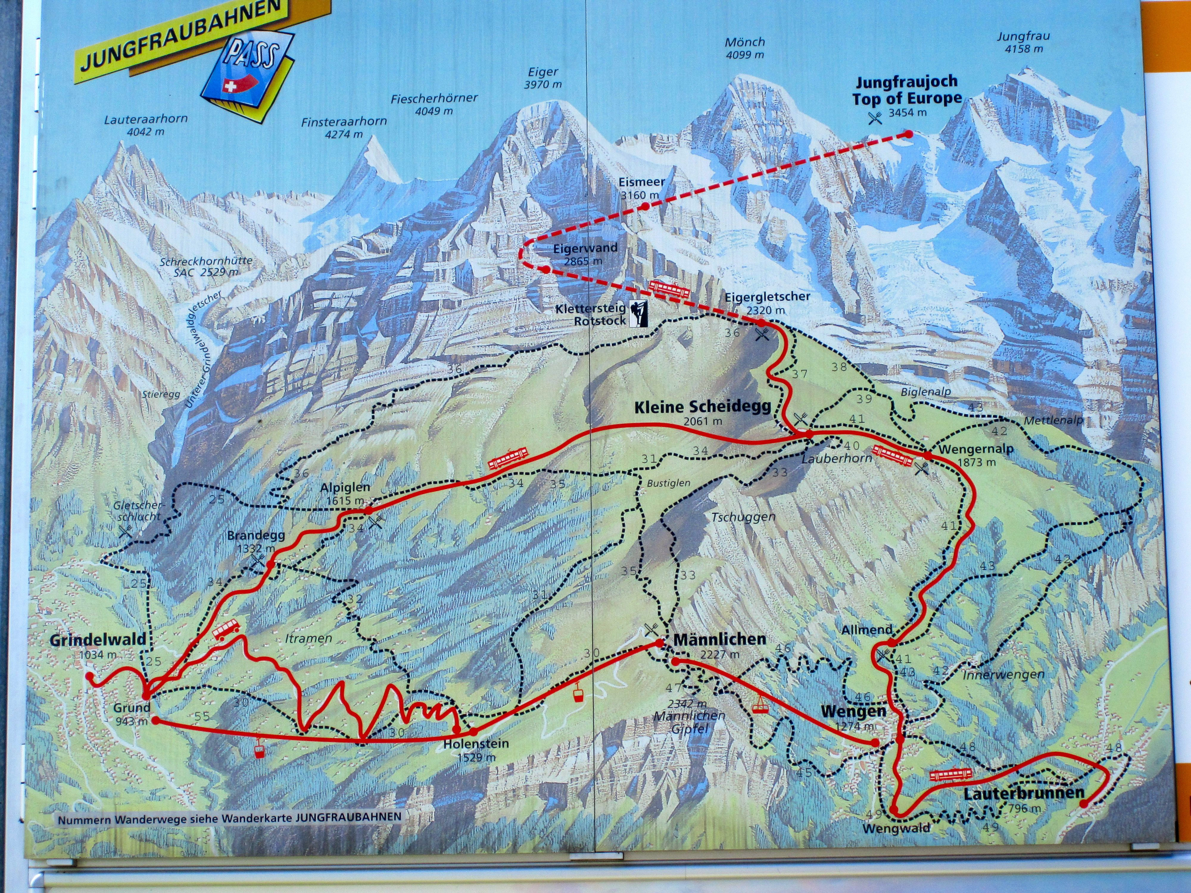 rail map to jungfraujoch TravelSWITZERLANDplaces Ive visited